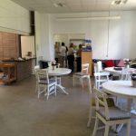 Cafeområde i fællesklasserum på årgangen